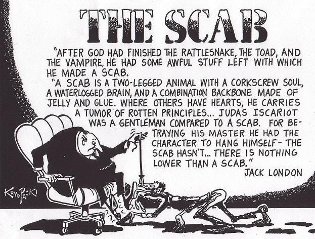 what is a scab