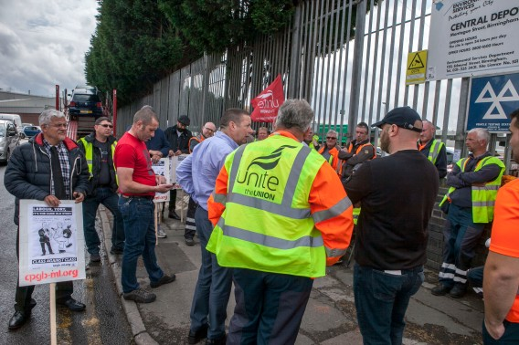 Binmen Strike; Digbeth Central Depot; 4th Sept 2017;
