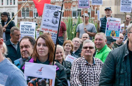 Binmen Rally outside Birmingham City Council House 17th Sept 2017;