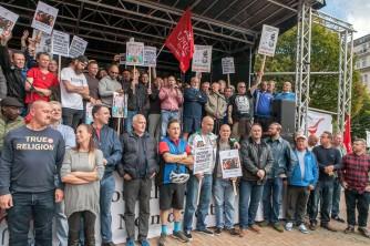 Binmen Rally outside Birmingham City Council House 17th Sept 2017;