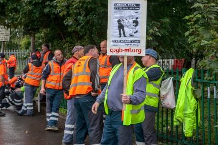 Binmen Strike; Lifford Lane Depot; 5th Sept 2017;