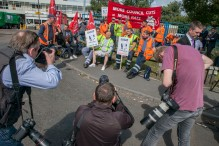 Binmen Strike; Perry Barr Depot, 1st Sept 2017;