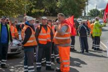 Binmen Strike; Tyesley Depot; 1st Sept 2017;