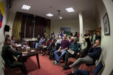Counsellor Helena Menéndez, Venezuelan Embassy, Marcos Garcia a leading Venezuelan trade unionist, address a meeting @ The Briar Rose, Bennetts Hill, Birmingham, organised by the Birmingham Worker CPGB-ML Friday 15th Feburary 2019